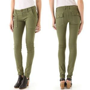 Current/Elliott The Combat Skinny Jeans in Army 30